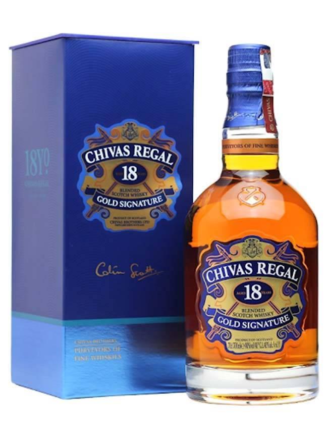Hộp đựng chai rượu Chivas 18