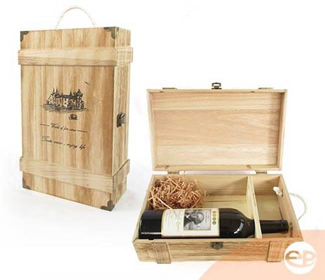 Hôp đựng rượu vang bằng gỗ tự nhiên sang trọng