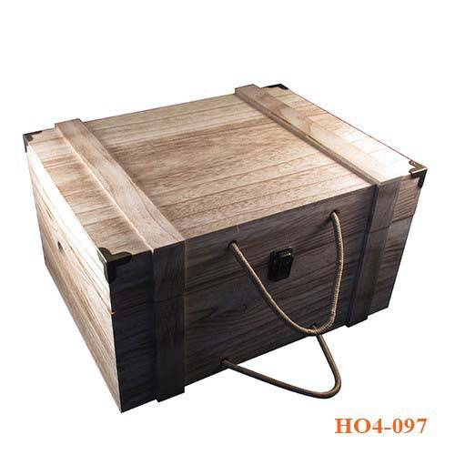 Hộp gỗ đựng rượu vang 6 chai chất lượng