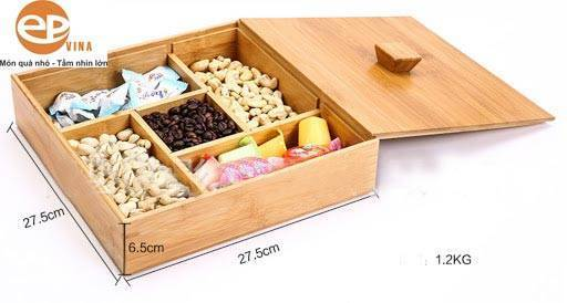 Làm hộp gỗ theo yêu cầu đựng bánh kẹo tết