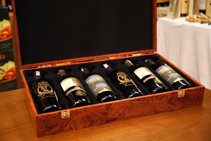 Mẫu hộp gỗ sơn mài đựng 6 chai rượu