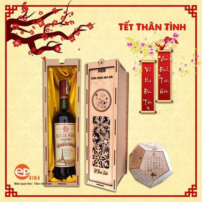Mẫu hộp rượu quà tặng cho ngày tết
