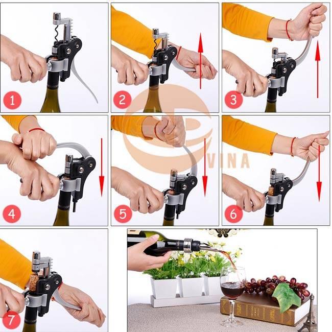 Sử dụng dụng cụ mở rượu chuyên nghiệp