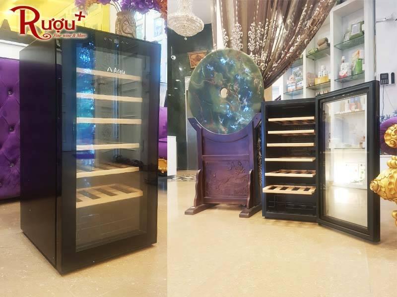 Tủ đựng rượu vang Adela 28 chai có thiết kế đẹp mắt, chuyên dụng
