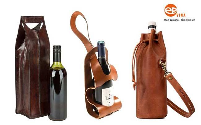 Túi đựng rượu bằng da có thiết kế độc đáo