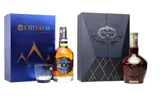 Túi rượu Chivas 18 và Chivas 21 có phần tương đồng với nhau