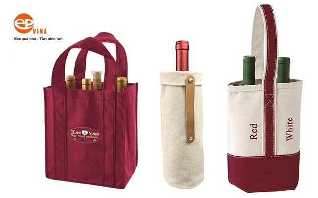 Túi vải đựng rượu đơn giản lịch sự