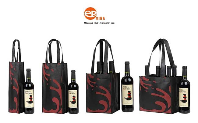 Túi vải đựng rượu vang sang trọng