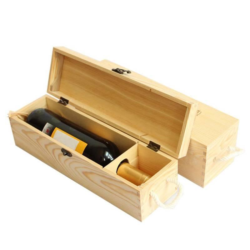 Hộp đựng rượu gỗ thông đơn giản, đẹp mắt