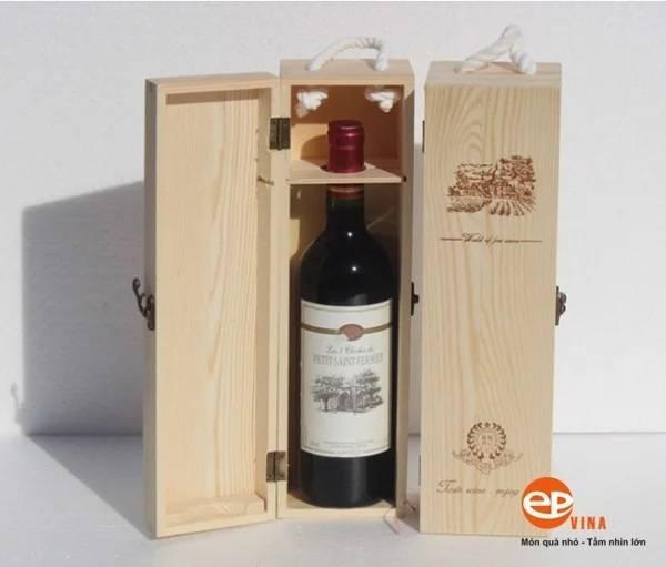 Hộp gỗ đựng rượu vang tại EPVINA