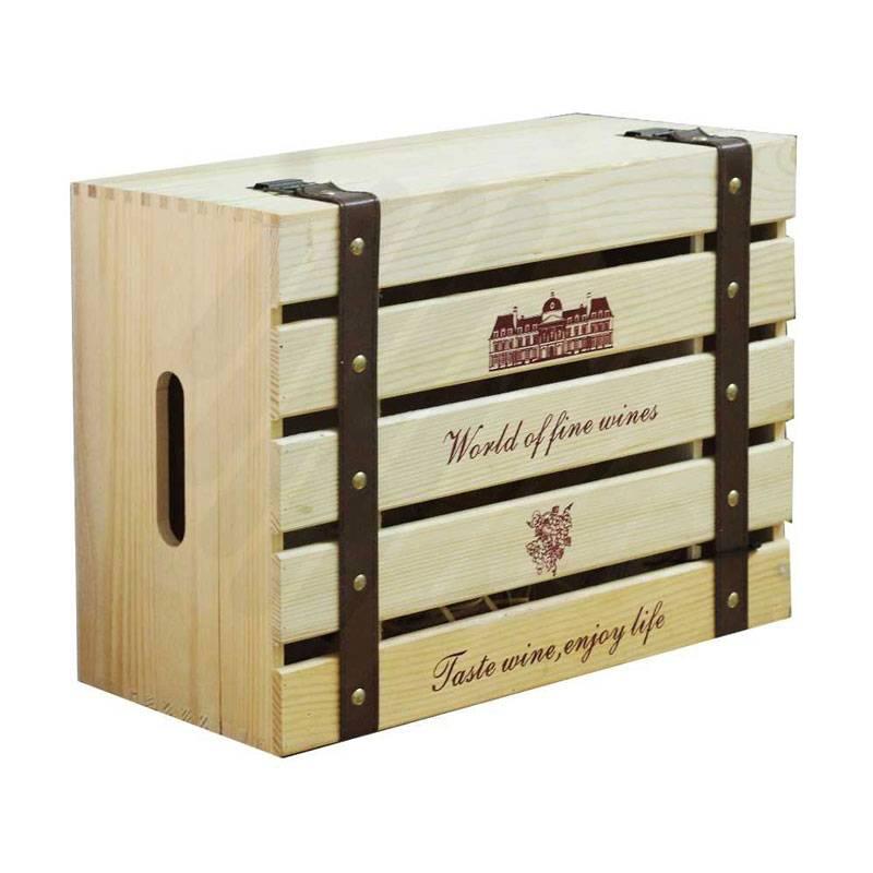 Hộp gỗ khá phổ biến khi dùng đựng rượu vang