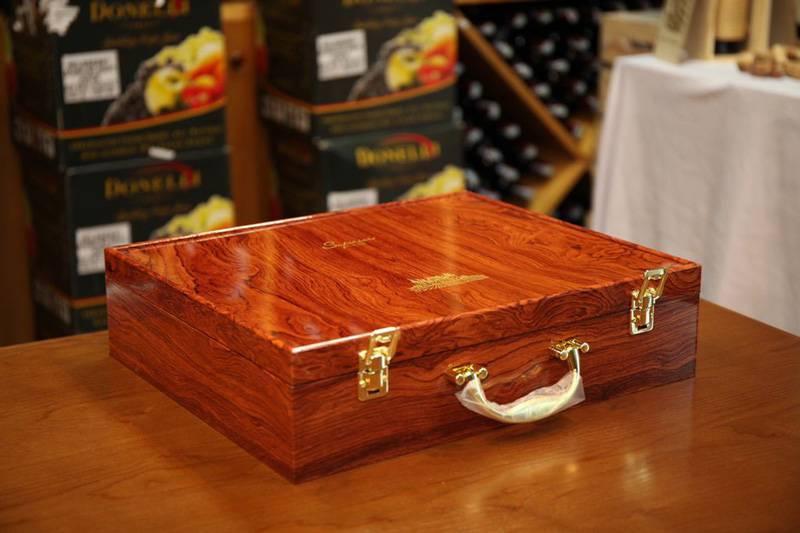 Hộp rượu vang passion hộp gỗ 6 chai đơn giản, tinh tế
