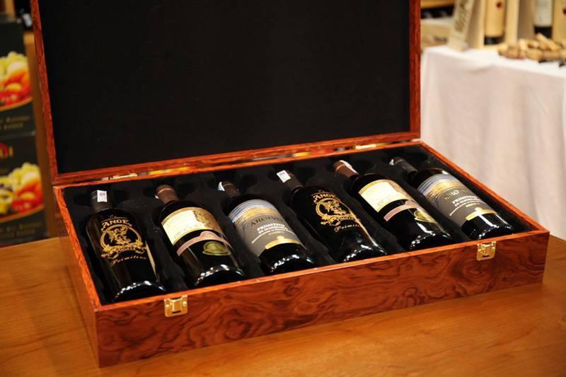 Hộp rượu vang ý hộp gỗ 6 chai đẹp, ấn tượng
