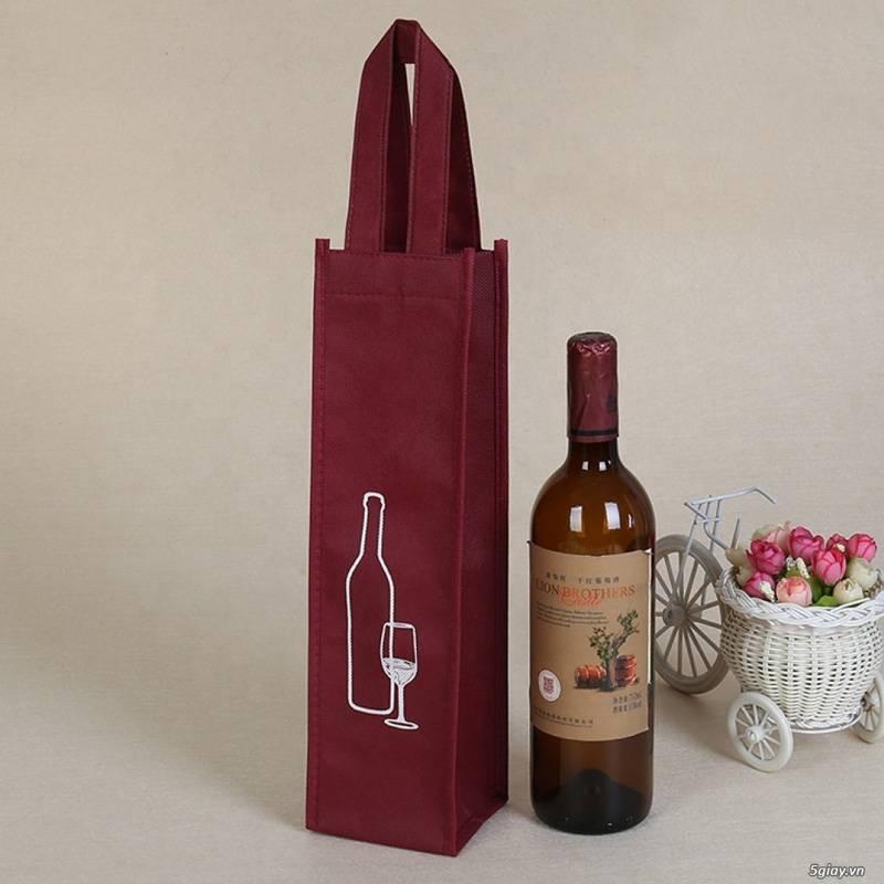 Mẫu túi quà đựng rượu thiết kế độc đáo