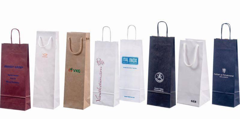 Mẫu túi xách đựng rượu làm bằng giấy thân thiện với môi trường