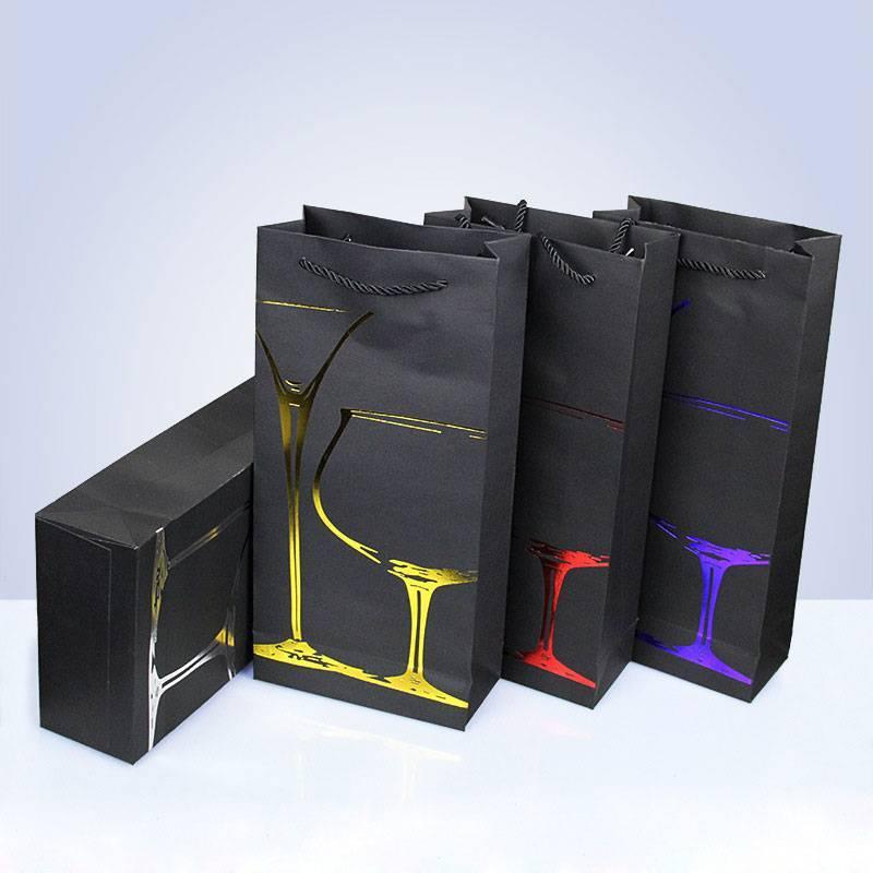 Túi đựng rượu ấn tượng làm bằng giấy ivory