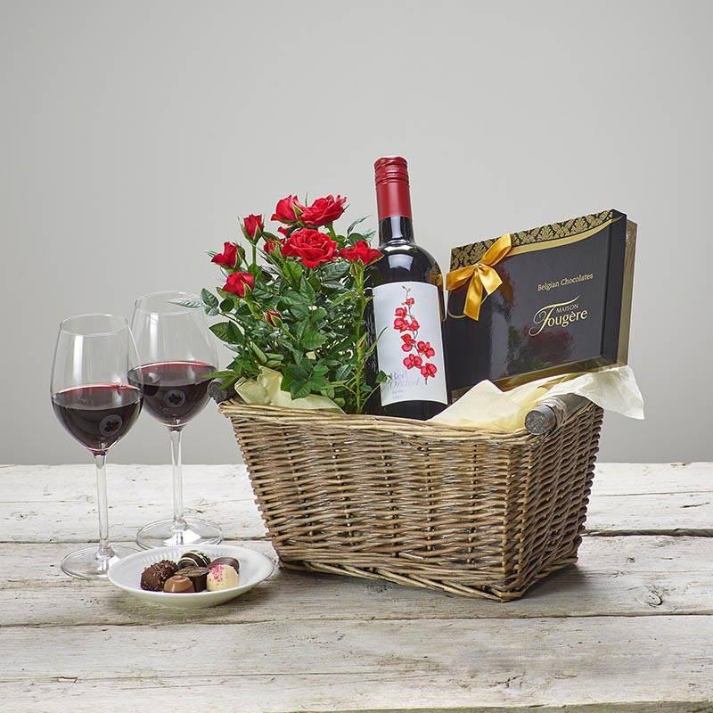 Giỏ hộp quà rượu vang