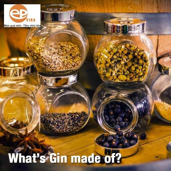 Rượu Gin được làm từ nguyên liệu