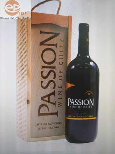Rượu Passion hộp gỗ Cabernet Sauvignon 1.5L
