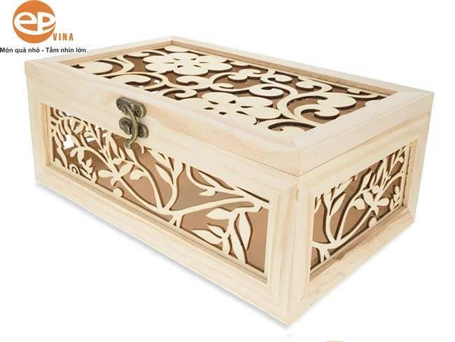 Hộp gỗ đựng quà tặng chạm trổ tinh xảo