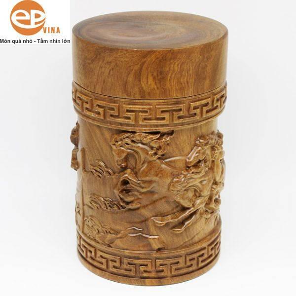 Hộp gỗ đựng trà Bách Xanh