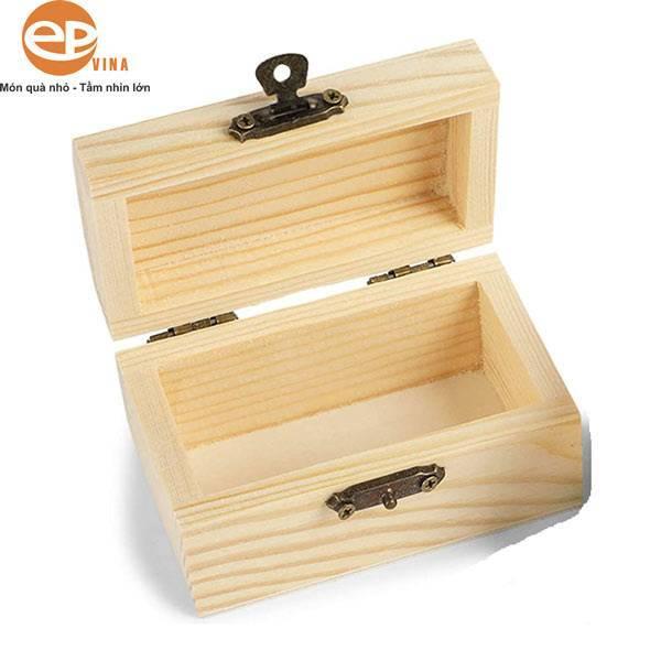 Hộp gỗ hình chữ nhật có khóa móc