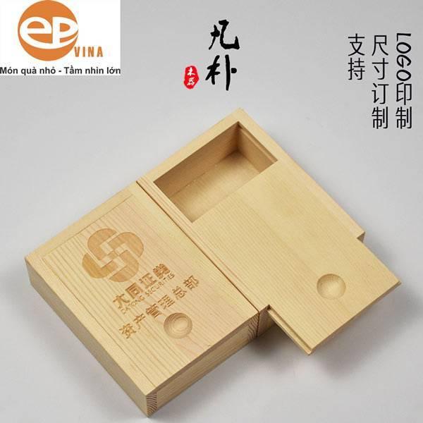 hộp gỗ hình chữ nhật nắp trượt