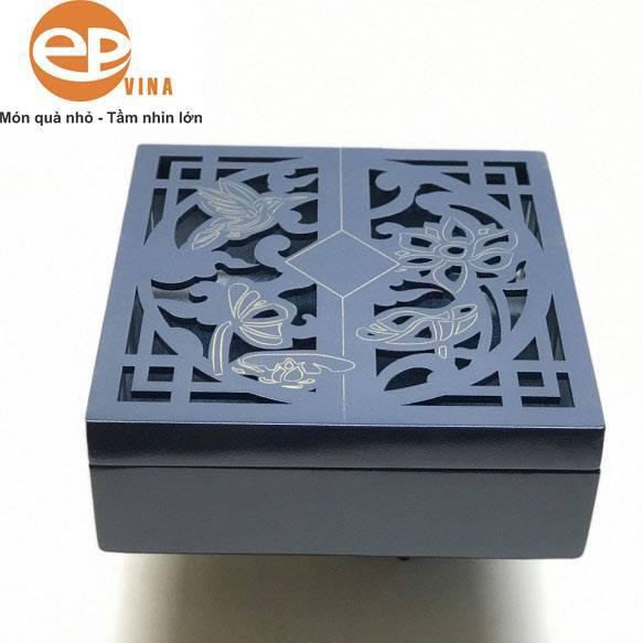 Hộp quà gỗ thông đựng quà tết đẹp mẫu 3