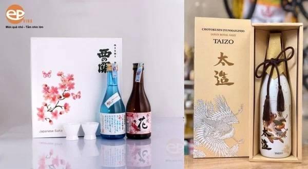 Hộp quà rượu Sake mẫu 1