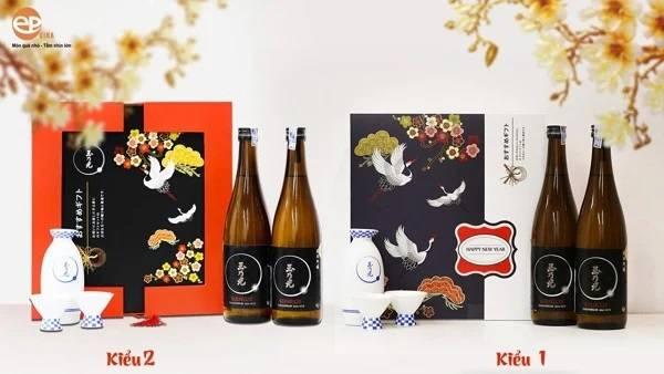 Hộp quà rượu Sake mẫu 3