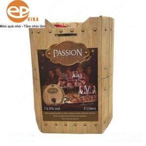 Rượu Passion hộp giấy giả gỗ