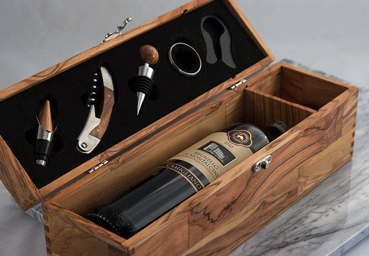 hộp gỗ đựng chai rượu